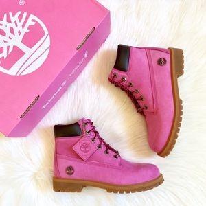 "Timberland 6"" Premium Waterproof Pink Boots"
